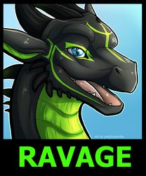 ravage badge|by purplepardus