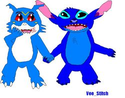 Veemon & Stitch|by vee_stitch