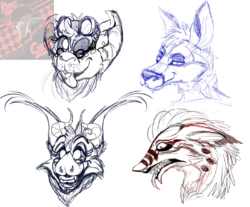 .:: Head Shot Sketches ::.|by King Gigabyte