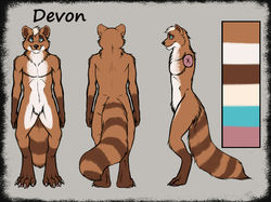 Devon's ref sheet|by Devon Bearcoon