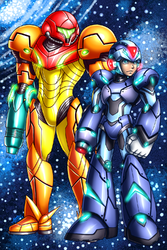 Samus and X: 11 years being together|by samusmmx