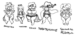 Beach bikini chibis!|by xskullstomperx