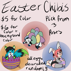 Easter Chibis For Sale!|by TCPolar
