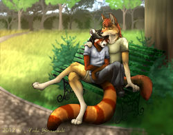 Commission: ~ Park Bench Affections ~ (2012)|by HoshiKitsunuki