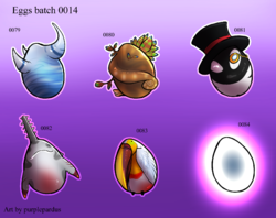 Egg batch 0014|by purplepardus