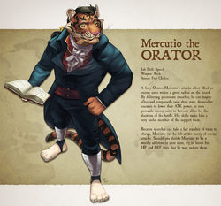 Furry Fantasy Tactics - Mercutio|by AsterionBlazing