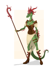 Character Concept: Serpent Queen|by PhaniasOfMystery