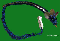 Large Blue And Silver Scaled Chainmaille Dragon|by CGIbeast
