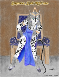 Krel-Mri'an - The Empress (color)|by AncientWolf