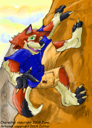 Rock climbin' folf|by Zotter