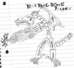 the ying yang bone dragon|by THE WOLF GOD